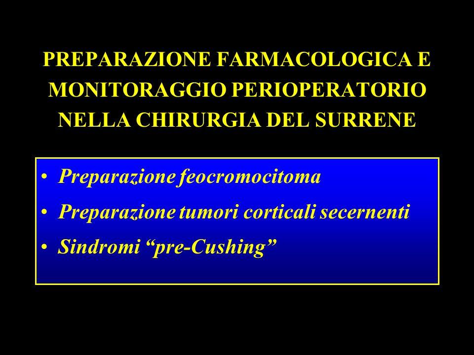 PREPARAZIONE FARMACOLOGICA E MONITORAGGIO PERIOPERATORIO NELLA CHIRURGIA DEL SURRENE