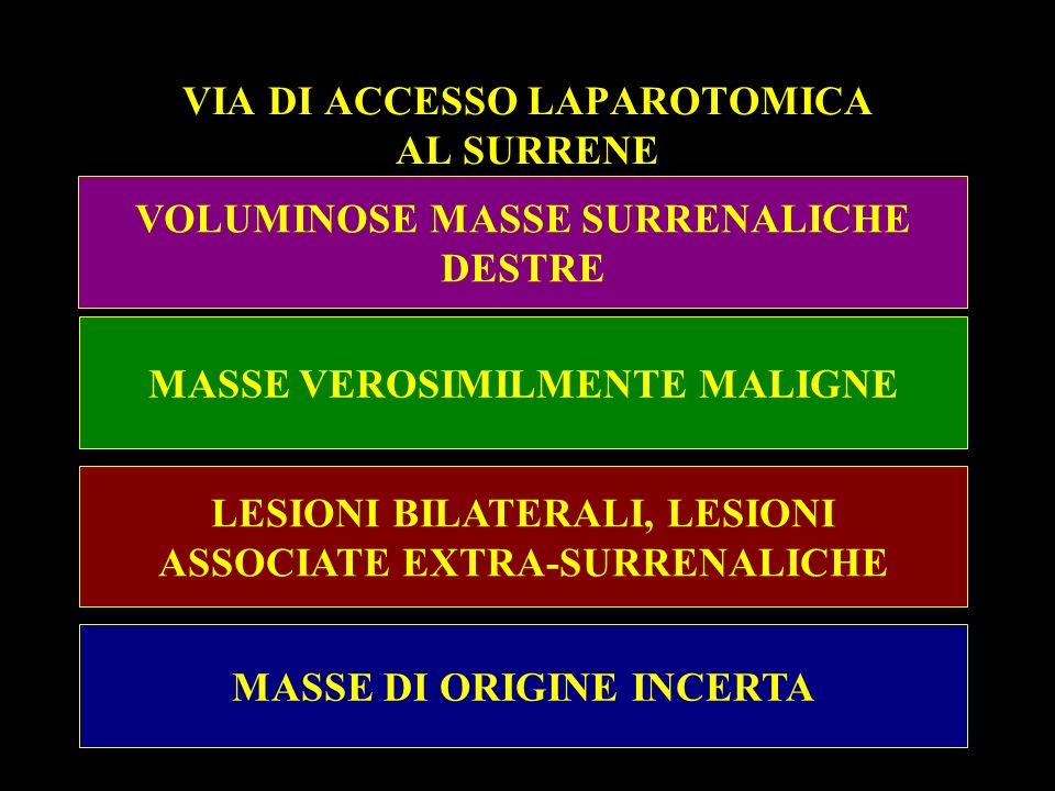 VIA DI ACCESSO LAPAROTOMICA AL SURRENE