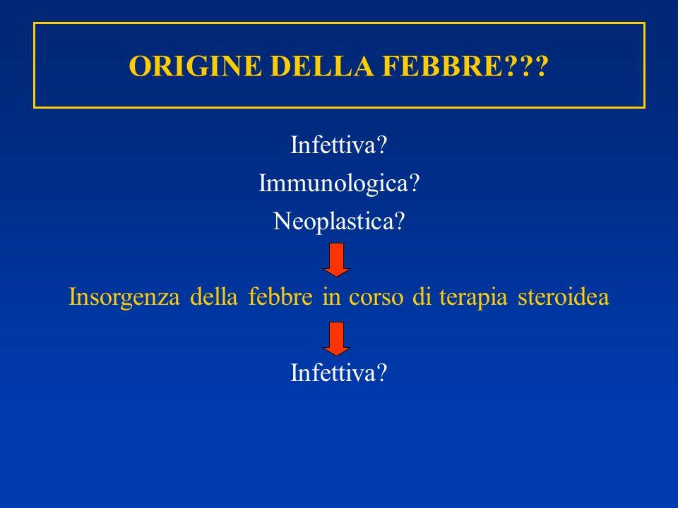 Insorgenza della febbre in corso di terapia steroidea