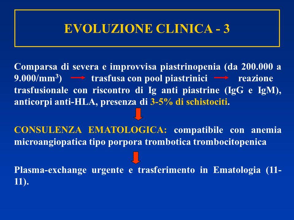 EVOLUZIONE CLINICA - 3