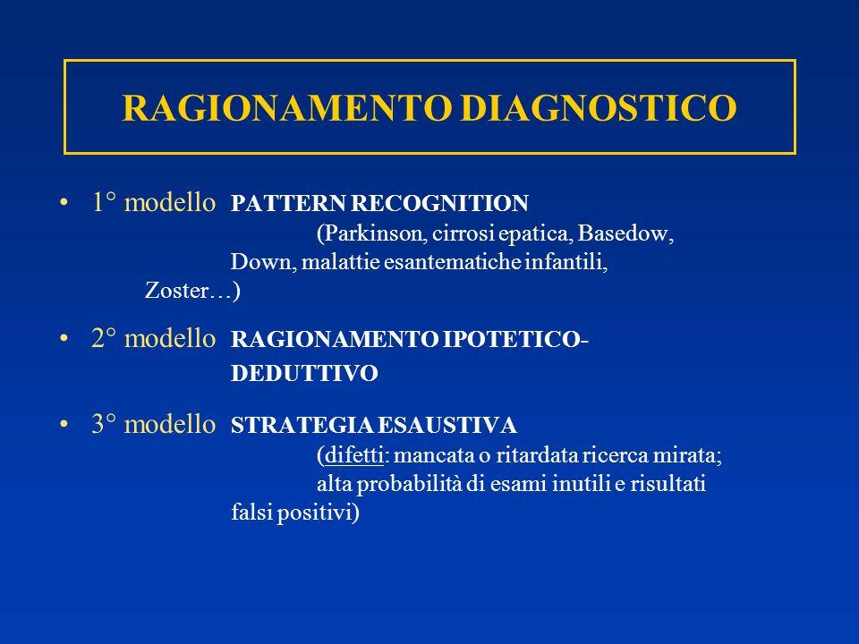 RAGIONAMENTO DIAGNOSTICO