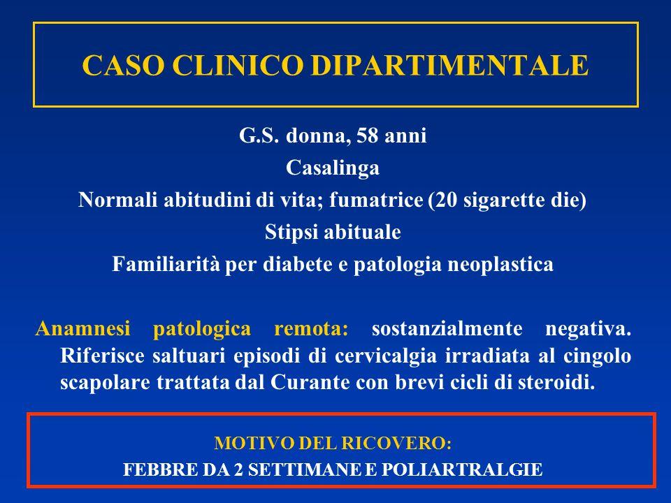 CASO CLINICO DIPARTIMENTALE