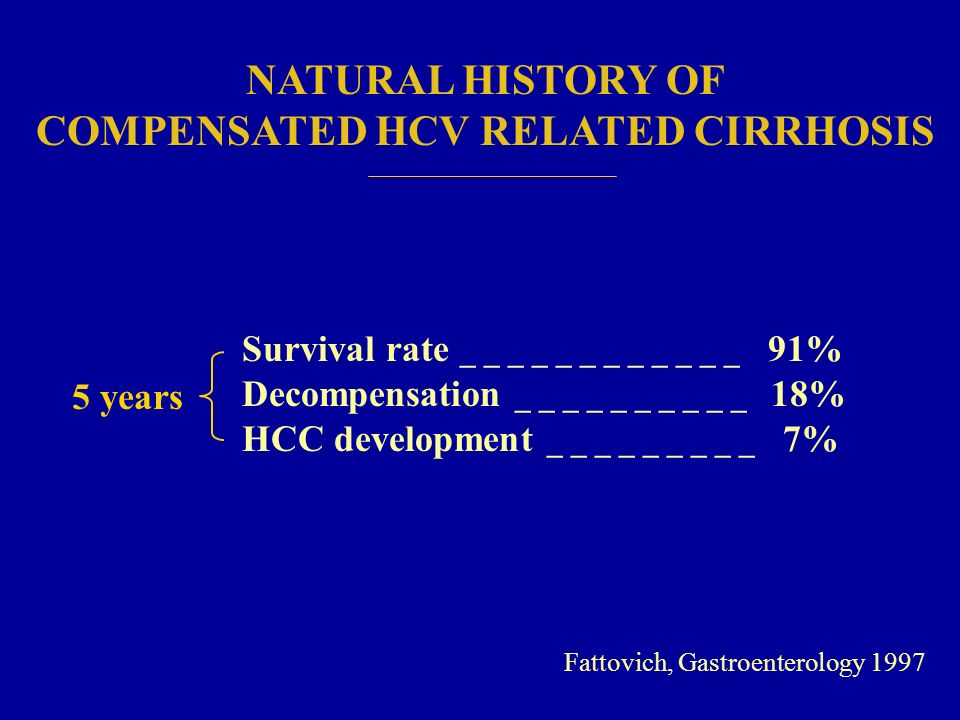 COMPENSATED HCV RELATED CIRRHOSIS
