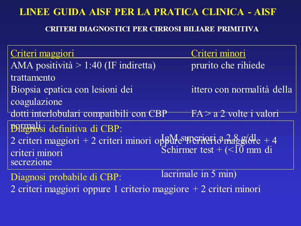 LINEE GUIDA AISF PER LA PRATICA CLINICA - AISF