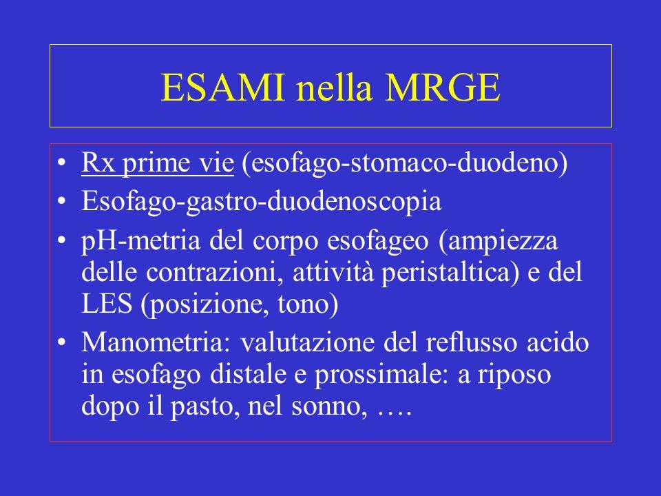 ESAMI nella MRGE Rx prime vie (esofago-stomaco-duodeno)