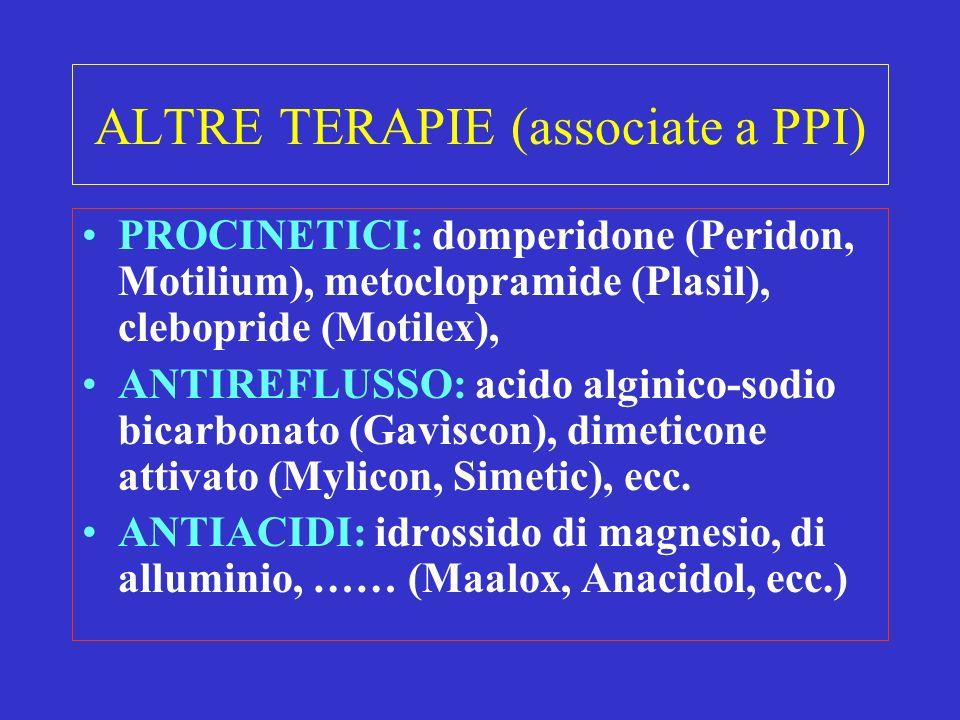 ALTRE TERAPIE (associate a PPI)