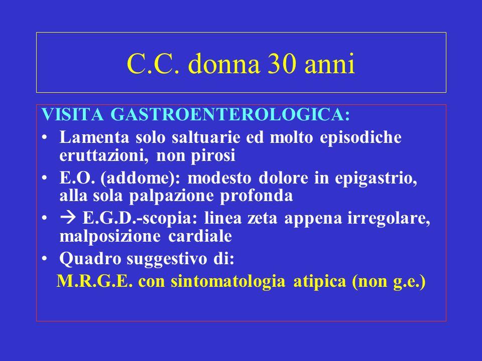 M.R.G.E. con sintomatologia atipica (non g.e.)