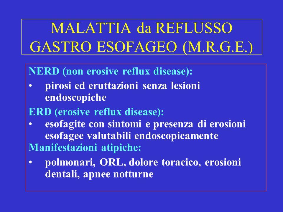 MALATTIA da REFLUSSO GASTRO ESOFAGEO (M.R.G.E.)
