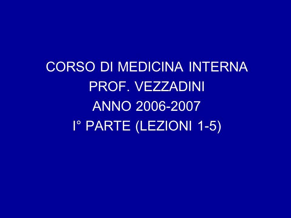 CORSO DI MEDICINA INTERNA