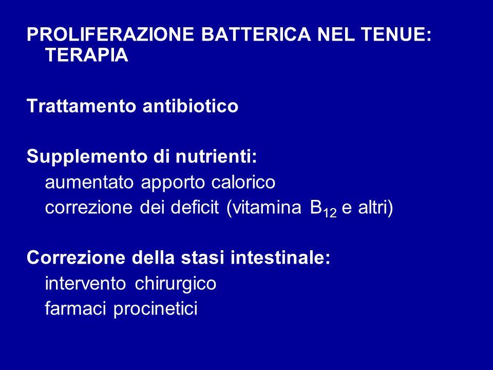 PROLIFERAZIONE BATTERICA NEL TENUE: TERAPIA
