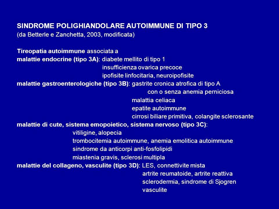 SINDROME POLIGHIANDOLARE AUTOIMMUNE DI TIPO 3