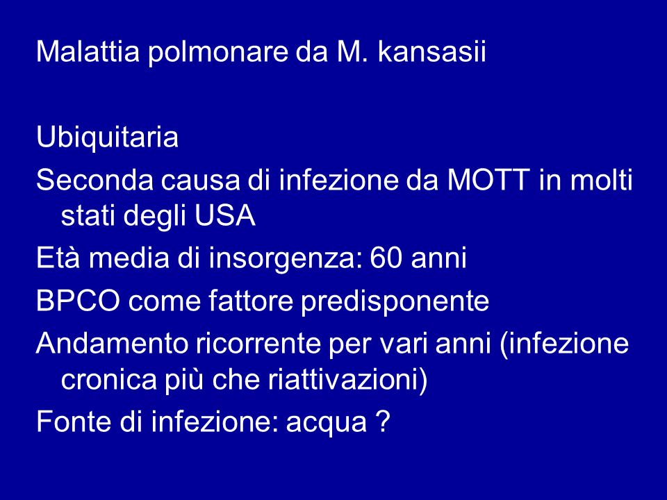 Malattia polmonare da M. kansasii