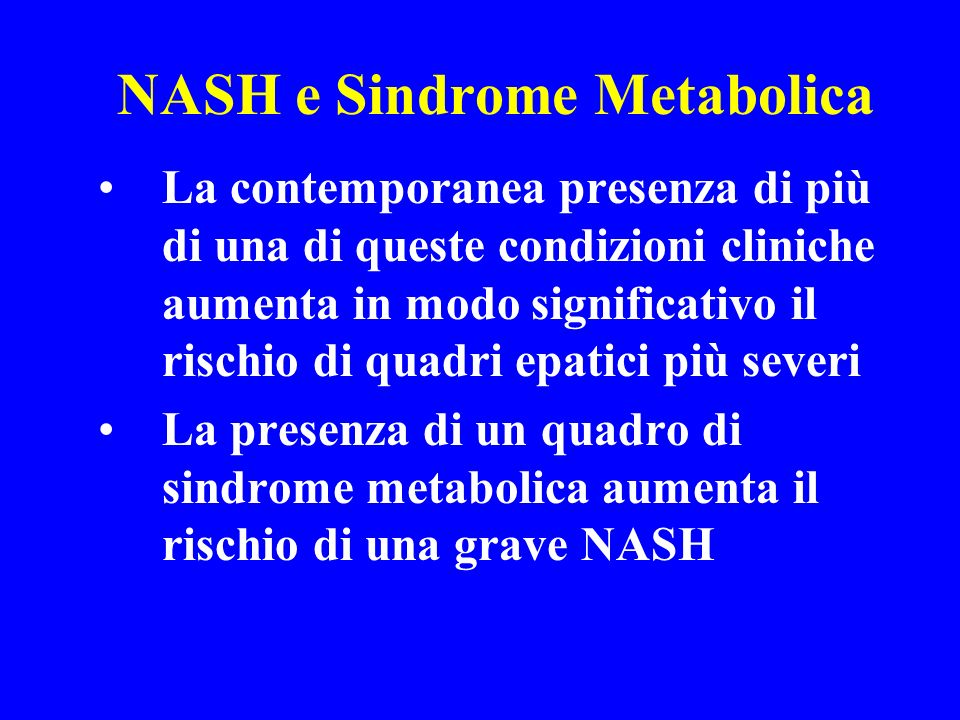NASH e Sindrome Metabolica