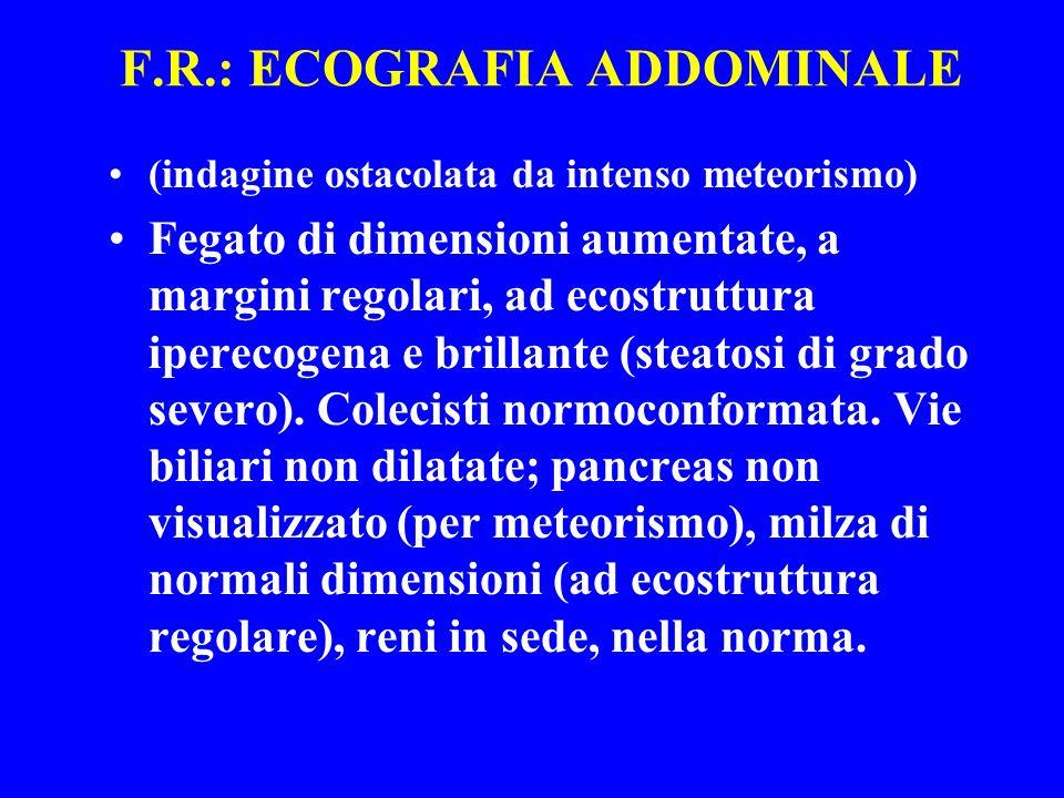 F.R.: ECOGRAFIA ADDOMINALE