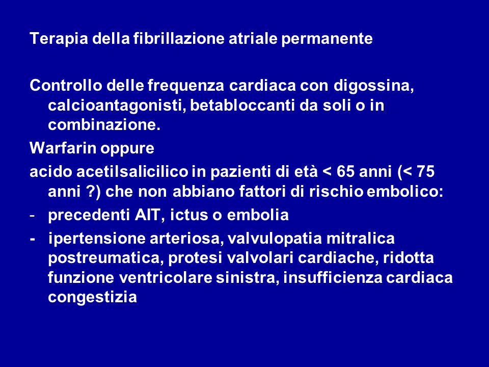 Terapia della fibrillazione atriale permanente