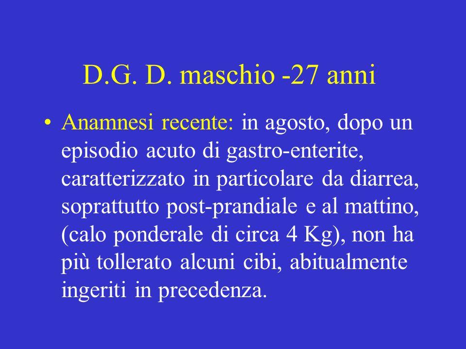 D.G. D. maschio -27 anni