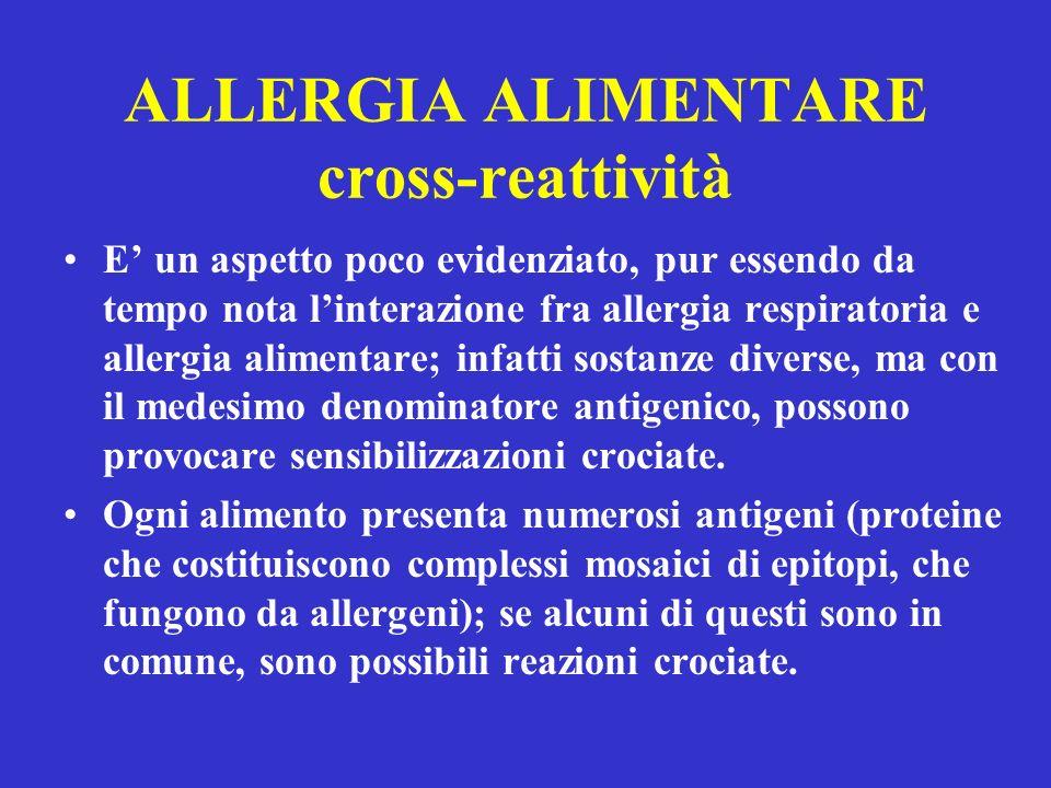 ALLERGIA ALIMENTARE cross-reattività