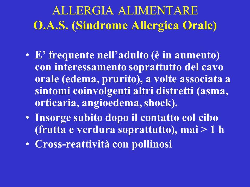 ALLERGIA ALIMENTARE O.A.S. (Sindrome Allergica Orale)
