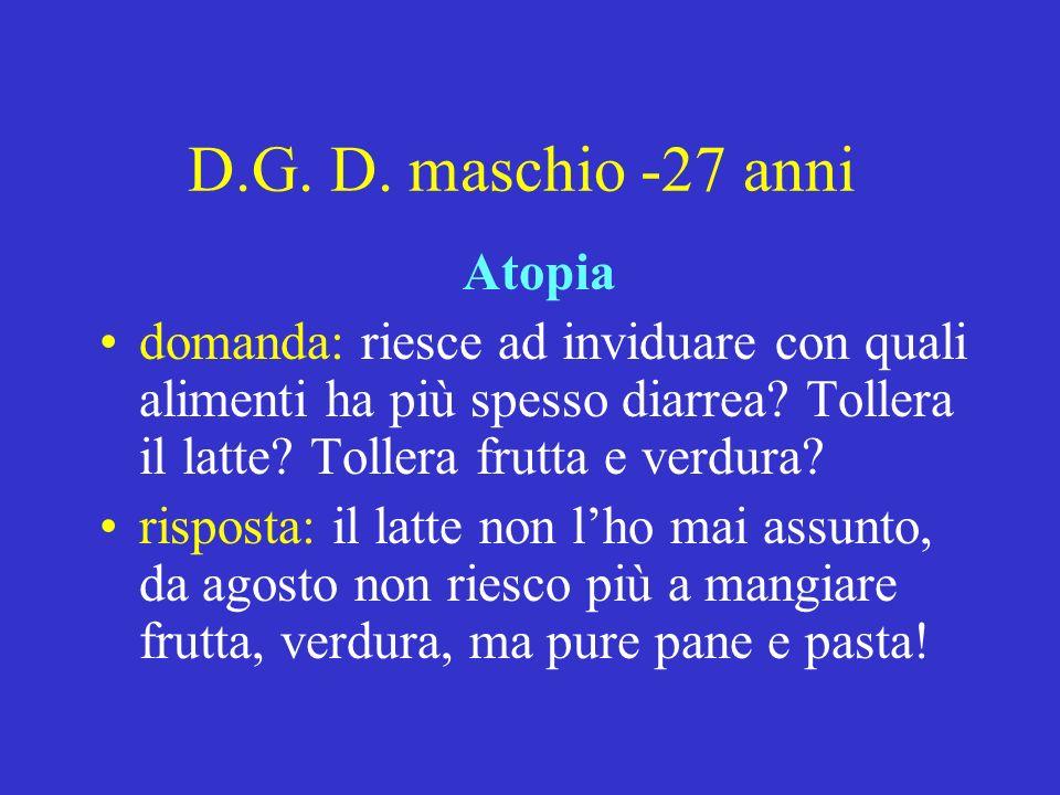 D.G. D. maschio -27 anni Atopia
