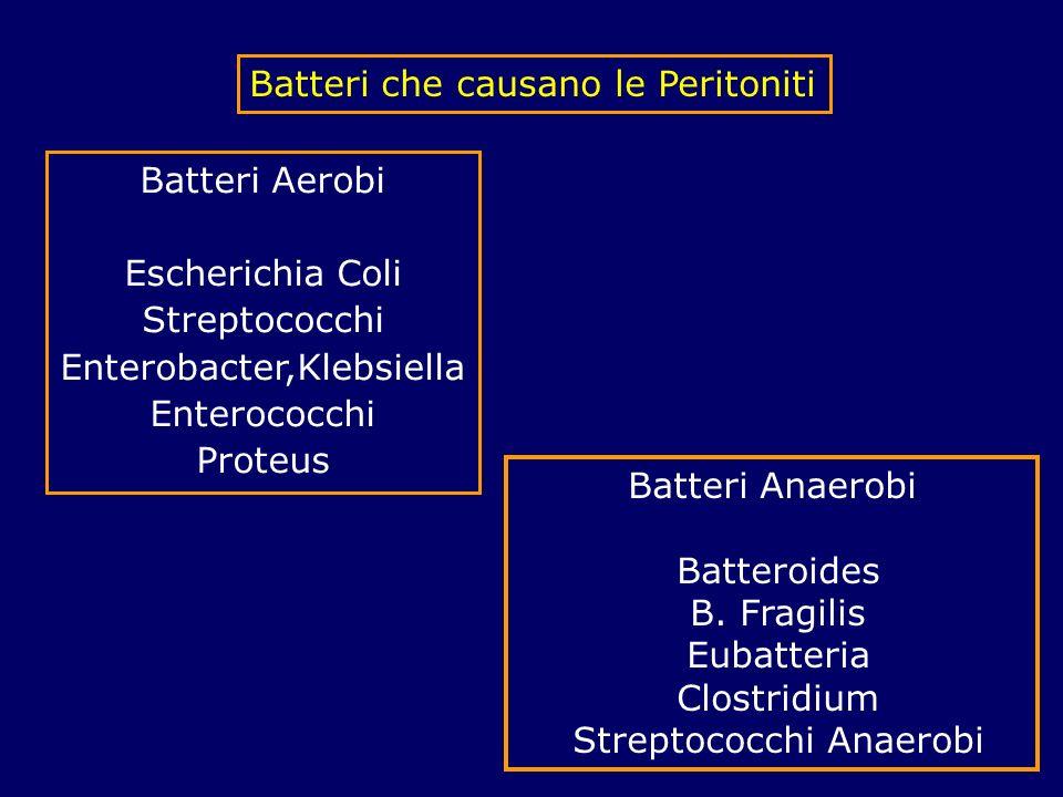 Batteri che causano le Peritoniti