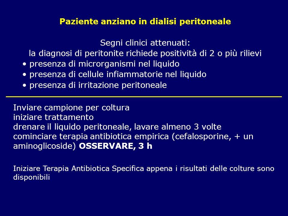 Paziente anziano in dialisi peritoneale