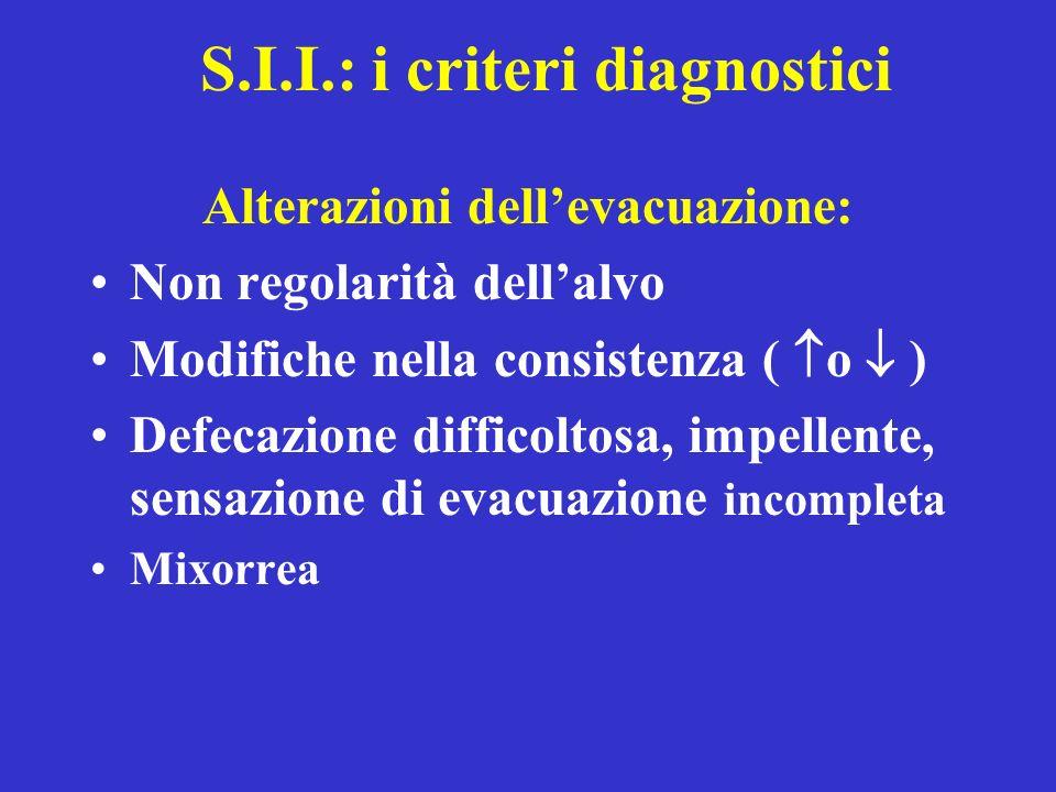 S.I.I.: i criteri diagnostici