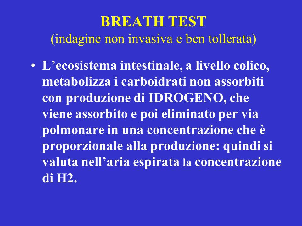 BREATH TEST (indagine non invasiva e ben tollerata)