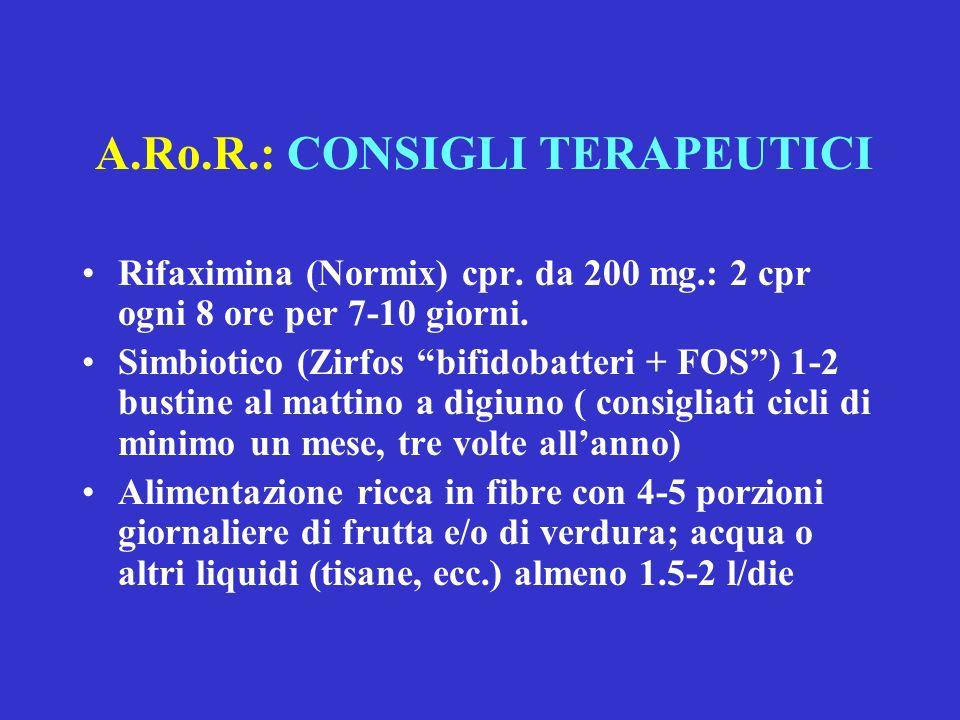 A.Ro.R.: CONSIGLI TERAPEUTICI
