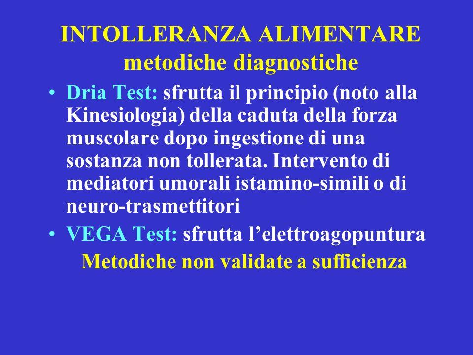 INTOLLERANZA ALIMENTARE metodiche diagnostiche