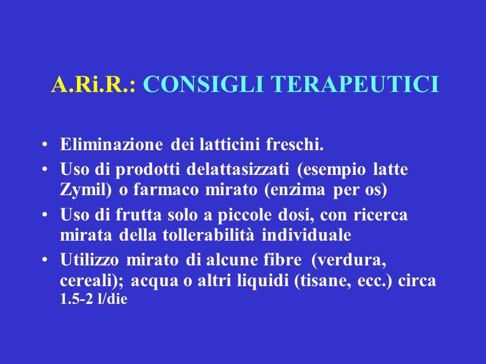 A.Ri.R.: CONSIGLI TERAPEUTICI