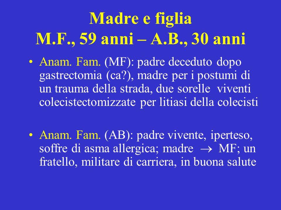 Madre e figlia M.F., 59 anni – A.B., 30 anni