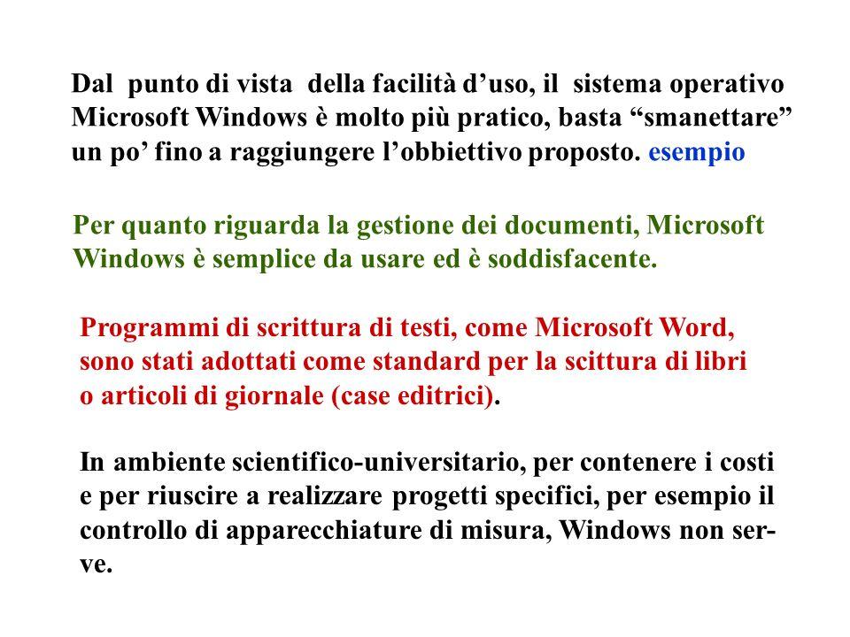 Dal punto di vista della facilità d'uso, il sistema operativo