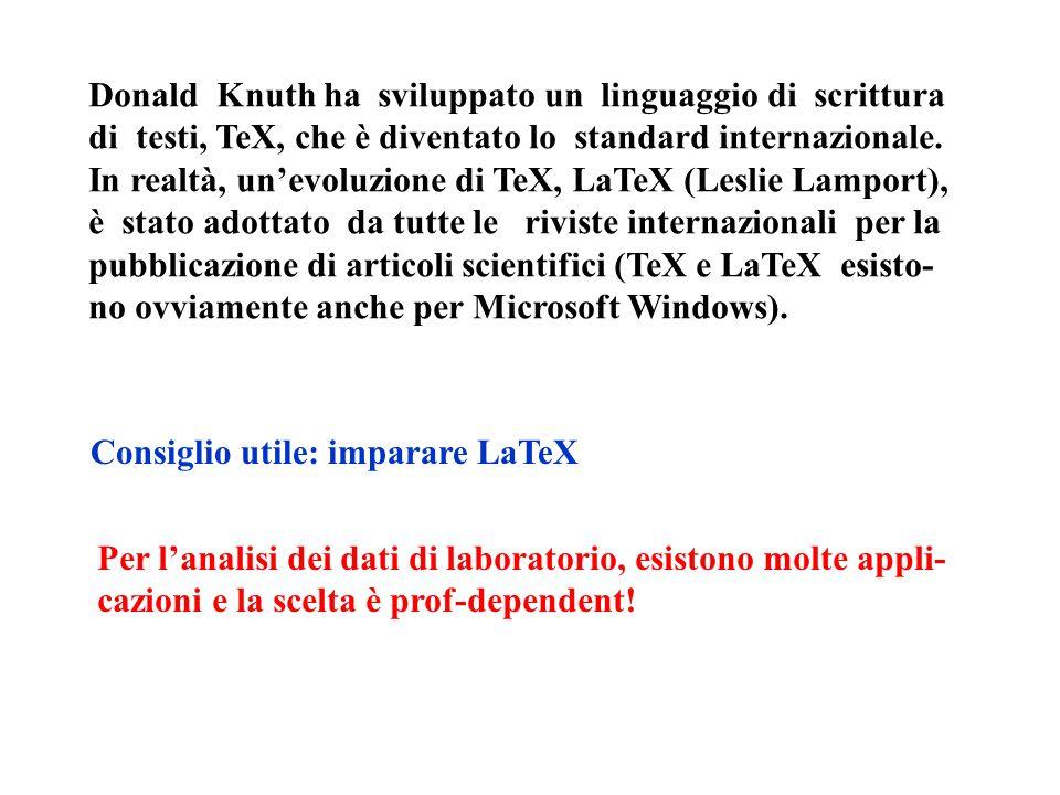 Donald Knuth ha sviluppato un linguaggio di scrittura