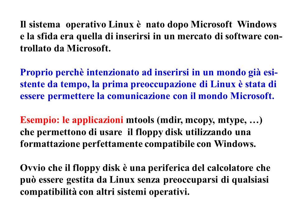 Il sistema operativo Linux è nato dopo Microsoft Windows