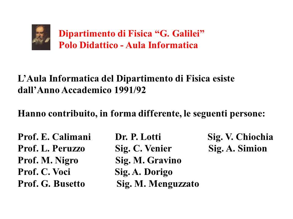 Dipartimento di Fisica G. Galilei