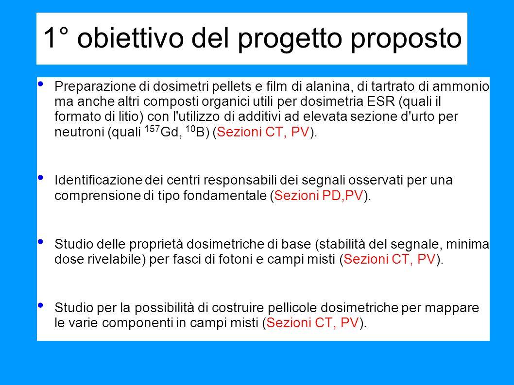 1° obiettivo del progetto proposto