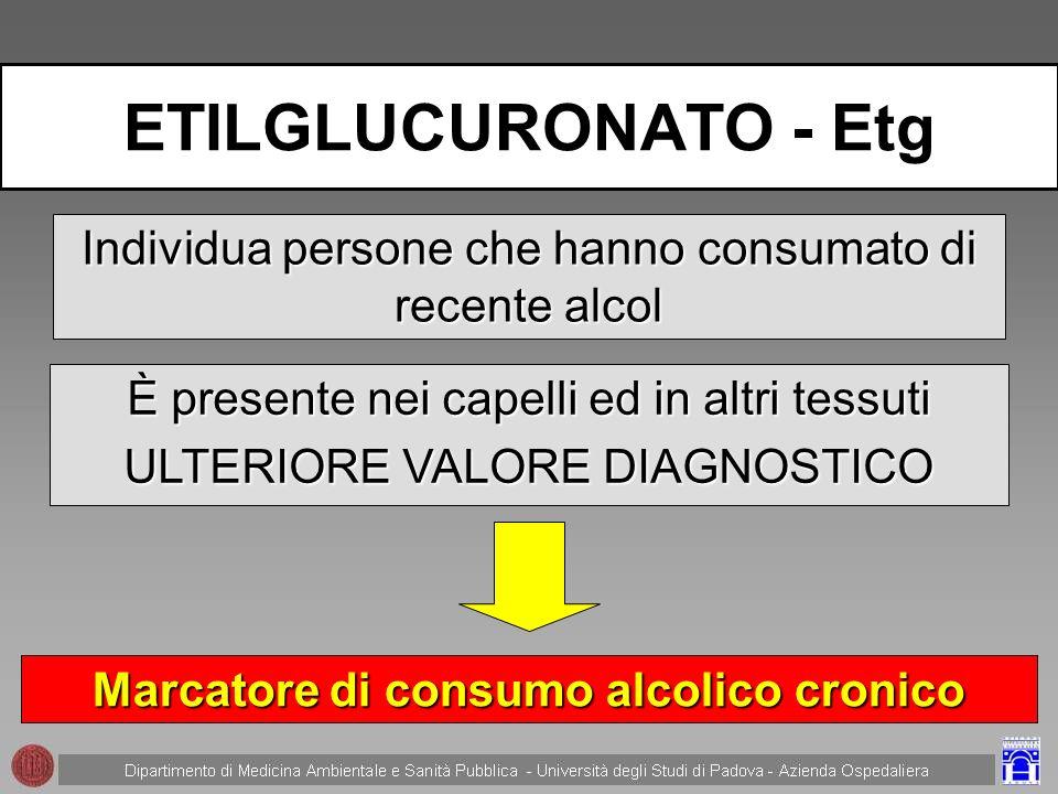 Marcatore di consumo alcolico cronico