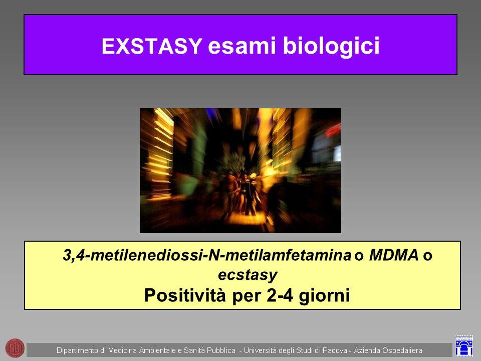 EXSTASY esami biologici