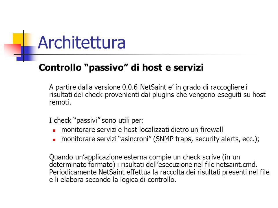Architettura Controllo passivo di host e servizi