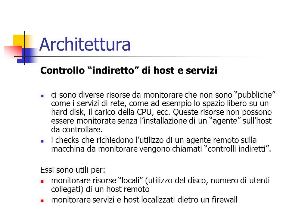 Architettura Controllo indiretto di host e servizi