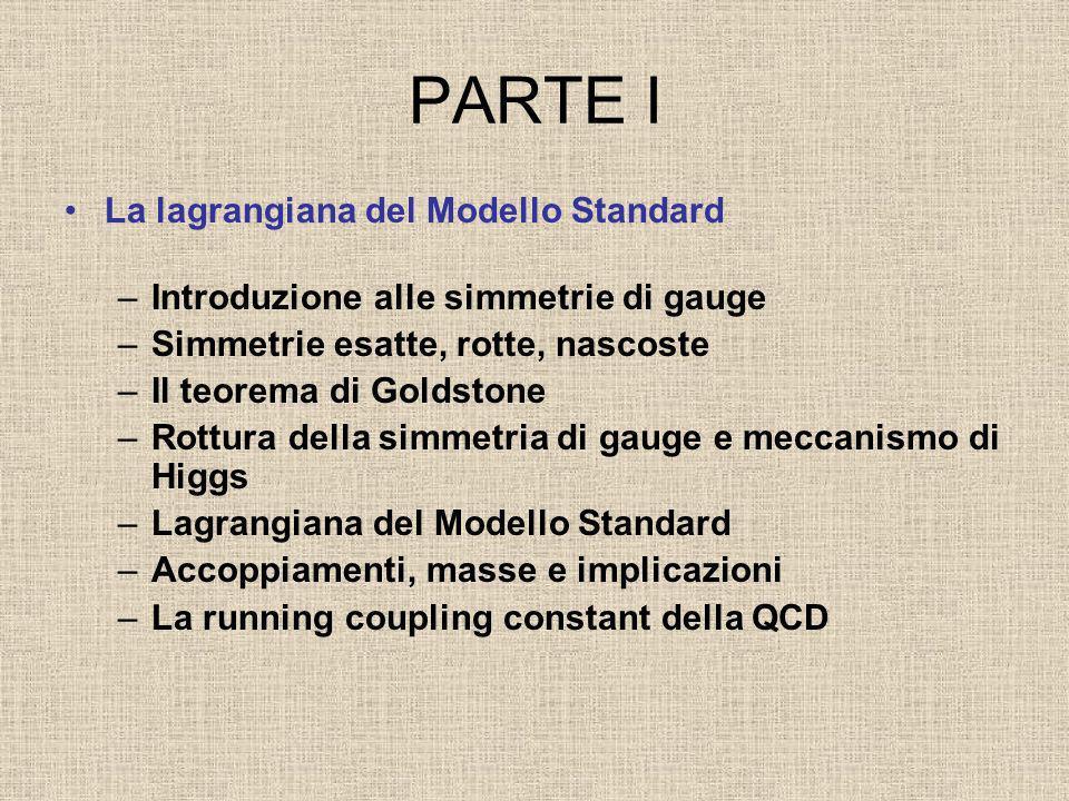 PARTE I La lagrangiana del Modello Standard