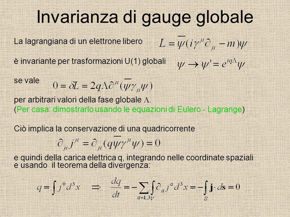 Invarianza di gauge globale