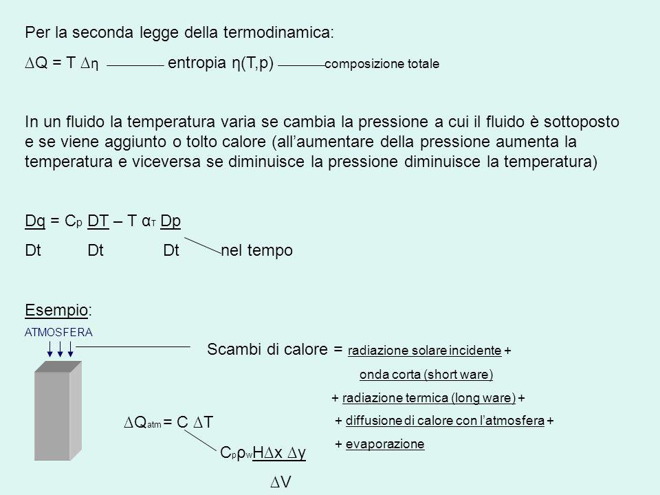 Per la seconda legge della termodinamica: