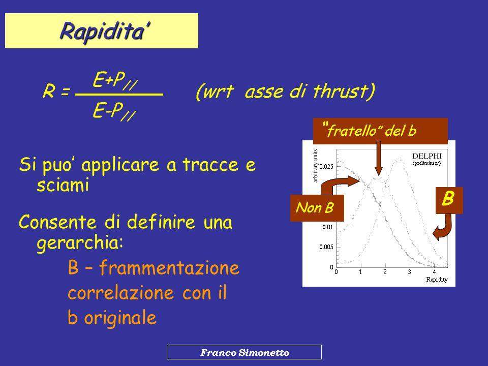 Rapidita' E+P// R = (wrt asse di thrust) E-P// fratello del b