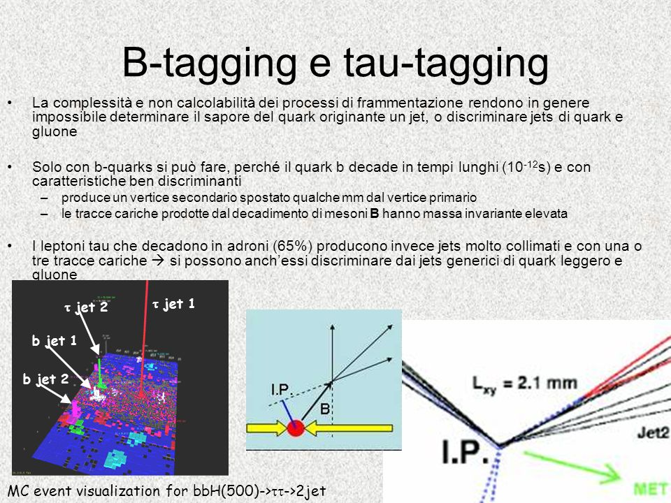 B-tagging e tau-tagging