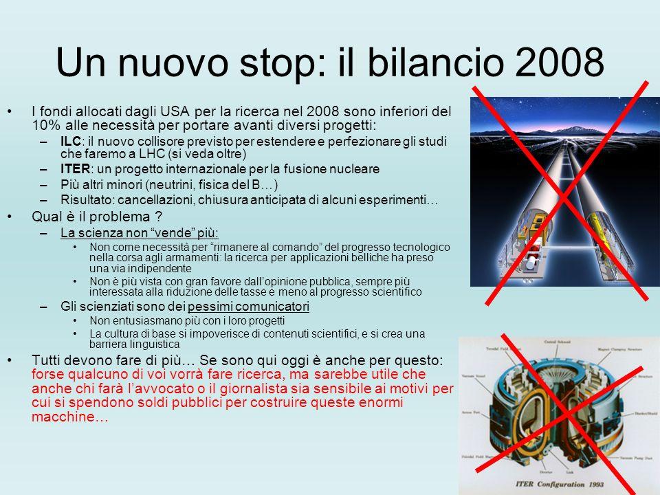 Un nuovo stop: il bilancio 2008