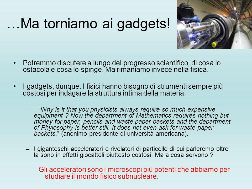 …Ma torniamo ai gadgets!