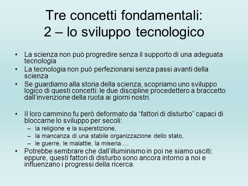 Tre concetti fondamentali: 2 – lo sviluppo tecnologico
