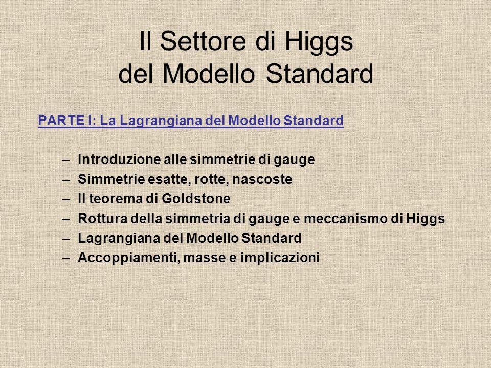 Il Settore di Higgs del Modello Standard