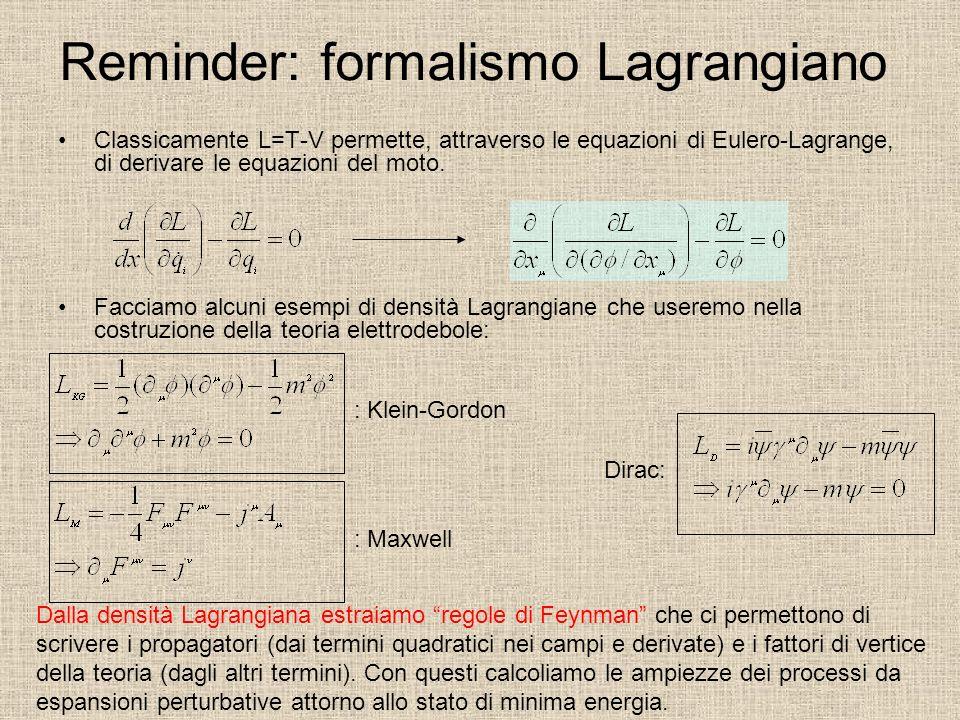 Reminder: formalismo Lagrangiano